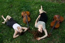 Cellos on the grass